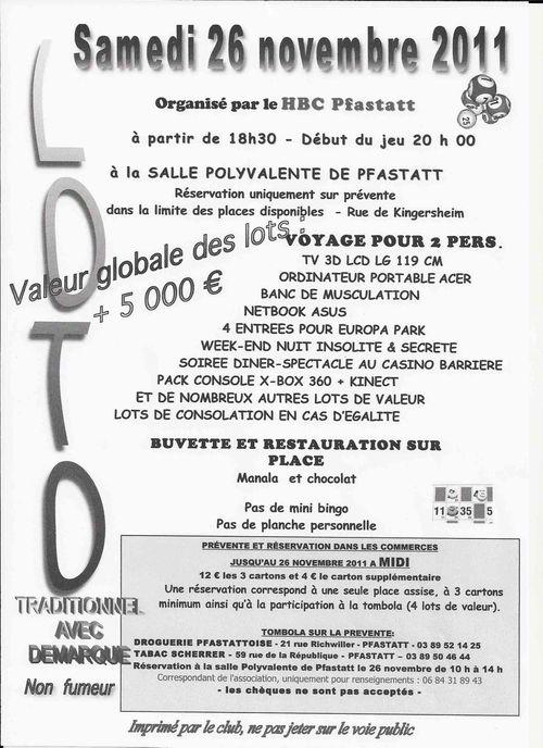 Affiche loto 2011