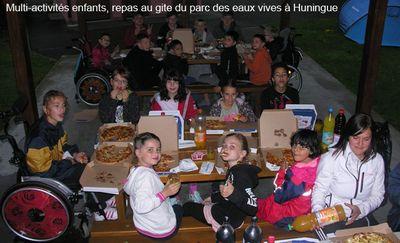 Multiactivités enfants, repas de reconstitution au gite du parc des eaux vives à huningue