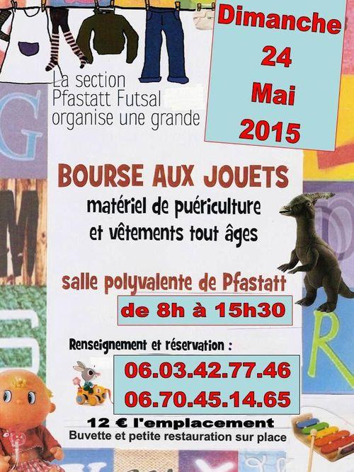 Affiche bourse aux jouets futsal 2015