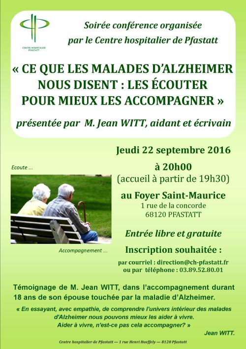 Soirée conférence Alzheimer _Affiche