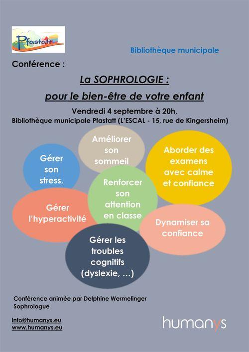 Affiche conférence sophro enfant Pfastatt