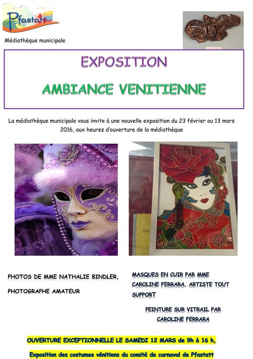 Affiche expo Ambiance vénitienne